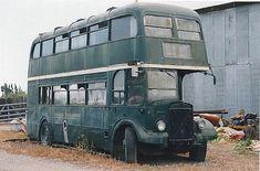 old London transport Vintage London, Old London, Abandoned Cars, Abandoned Vehicles, Car Barn, Routemaster, Bus Coach, London Bus, London Transport