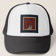 Pekingese Dog Red Asian Arch Scattered Sign Dog Trucker Hat - red gifts color style cyo diy personalize unique