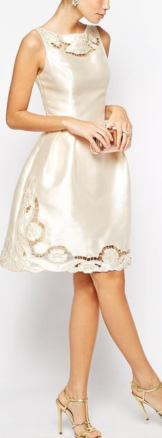 embroidered cutwork dress