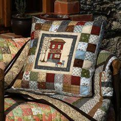 45 x 45 cm. Patchwork Quilt, Patchwork Cushion, Quilted Pillow, Sewing Pillows, Diy Pillows, Decorative Pillows, Throw Pillows, House Quilts, Baby Quilts