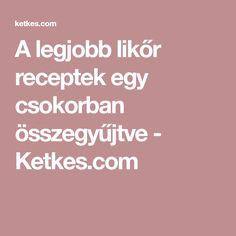 A legjobb likőr receptek egy csokorban összegyűjtve - Ketkes.com