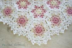 Felted Button: ::Vintage Fleur Blanket Crochet Pattern::