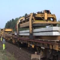 Train Tracks Machine.  This is truly amazing.  Someone must have had sleepless nights dreaming this up and working it out.