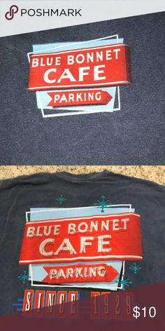 Blue Bonnet Cafe t-shirt Worn a few times, great condition. Comfort Colors Tops Tees - Short Sleeve