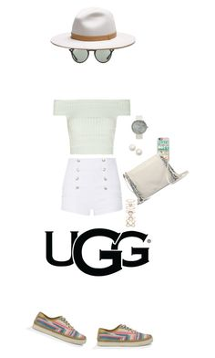 """Play With Prints In UGG: Contest Entry"" by waikiki24 ❤ liked on Polyvore featuring UGG Australia, Casetify, Pierre Balmain, Kate Spade, Accessorize, Ray-Ban, Alexander McQueen, rag & bone and thisisugg"