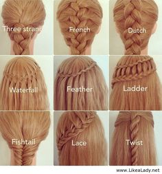 Different Types of Braids...now learn them :p