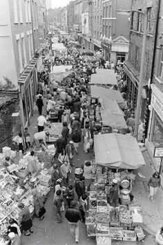 Brick Lane Sunday market, London, 1985.