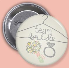 Team Bride / Wedding / Bridal Party / Favors by Bisforbuttons, $12.00