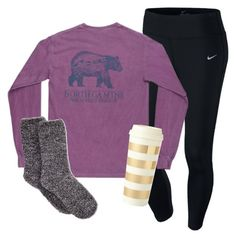 A fashion look from October 2015 featuring NIKE activewear pants and Charter Club socks. Browse and shop related looks. Lazy Day Outfits, Preppy Outfits, College Outfits, Everyday Outfits, Cute Outfits, School Outfits, Pajamas For Teens, Teen Fashion, Fashion Outfits