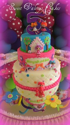 Childrens Birthday Cakes - Lallaloopsy Cake