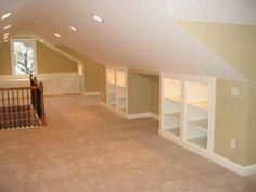 Great idea for attic space.  Lots of storage.