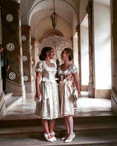 Dirndl Wedding Bride and  Bridesmaid