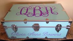 Personalized Summer Camp Trunks CAMP COUTURE Trunks $325.00  Now in mint!