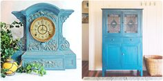 More projects painted in Aubusson Blue Chalk Paint® decorative paint by Annie Sloan | On The Palette Blog