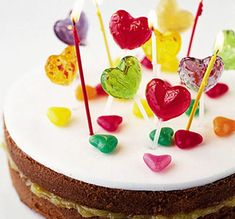 Lollipop cake. Fab, fun easy-to-make birthday cake - decorate with your little ones' favourite treats