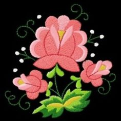 Arte popular polaco me Floral máquina Embroidery Designs Pes Hus JEF Vip Art, etc.