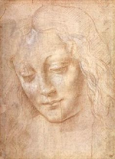 da Vinci Leonardo - Head of a woman