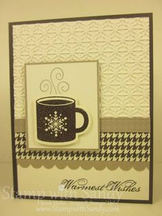 Sandy posted this on SCS but included link to her blog. Uses items from new Holiday Catalog for Stampin Up. I want to get this set and the framelits.