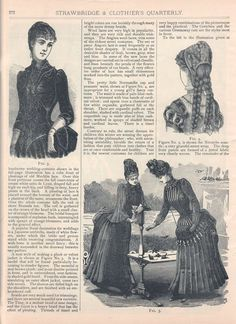 "A ""Fashion Gossip"" column describing cutting edge Philadelphia fashions, Winter 1885-86 US (Philadelphia), Strawbridge and Clothier's Quarterly"