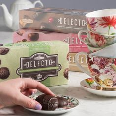 Bring an extra something special to your next tea party with a box of our Delecto Chocolates. Something Special, Chocolate Box, Chocolates, Tea Party, Mugs, Tableware, How To Make, Dinnerware, Schokolade