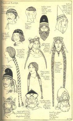 12e eeuw haarstijlen