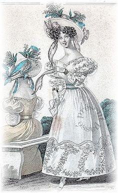 Fashion for woman, 1828