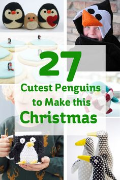 You can't think Christmas without thinking penguins. I love penguins and I love Christmas projects, so here's 27 of the cutest penguins to make this xmas!