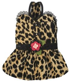 Get wild this season with the gorgeous Gia Dress. Featuring luxurious leopard velvet, black lace,     crystal bows and a custom crystal flower, your little fashionista is sure to look fierce donning this chic spotted print.     Get the matching Frankie Vest for your hipster boy!     Proudly made in the U.S.A.     Available in Sizes XXS - L