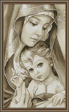 Cross Stitch Kit Madonna with child DIY Cross Stitch Set Alisena Hand Embroidery Stitching Home decor Wall Decor Idea gift Counted Cross Stitch Kits, Cross Stitch Embroidery, Cross Stitching, Hand Embroidery, Cross Stitch Patterns, Religious Cross, Cross Stitch Pictures, Madonna And Child, Jesus On The Cross