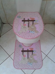 Jogo de banheiro Coelho Orelhudo