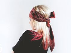 How to wear a scarf on your head 6 easy ways. The scarf used in examples is a square heavier weight silk scarf called 'Wine red' but you can ...