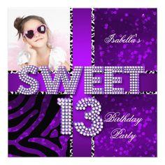 13th birthday cards for girls Girls 13th Birthday Party
