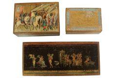 Florentine Gilt Boxes, S/3