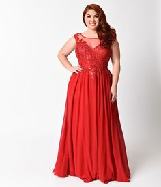 Plus Size Red Sexy Sleeveless Halter Long Dress For Homecoming 2017