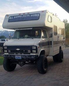 Custom VANS natural BABES & other bad ass transportation. Rv Truck, Truck Camping, Van Camping, 4x4 Trucks, Cool Trucks, Chevy Trucks, Truck House, Camping Stuff, Cabover Camper