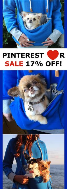 Roodie - Pet Carrier Hoodies - Oh Yes, I was so waiting for this to go on sale. My friend got one and loves it and they added more colors! Dog Items, Chihuahua Love, Baby Kittens, Dog Carrier, Pet Carriers, Dog Accessories, Dog Mom, Fur Babies, Cute Dogs