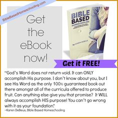 FREE eBook!!! Bible Based Homeschooling: Our Experiment With Using the Bible As Our Main Textbook