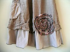 CUSTOM ORDER EXAMPLE, Upcycled Lagenlook Jumper Dress, Prairie Chic, Embellished, Artsy Original Design, Upcycled Clothing by BentEdgeAlchemy on Etsy https://www.etsy.com/listing/213464293/custom-order-example-upcycled-lagenlook
