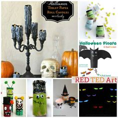 Red Ted Art's collection of Easy Toilet Paper Roll Halloween Crafts - brilliant TP Roll Halloween Crafts for kids #halloween #crafts #toiletpaperrolls