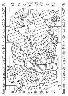 cleopatra egyptian coloring pages - photo#30