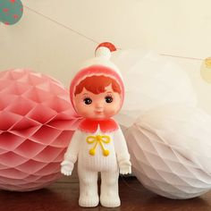 Snow baby Woodland Doll by Lapin and me.