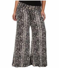 d08a1346aef Rachel Pally Plus Size 1X Wide Leg Trousers Black Ladder NWT Orig  216   RachelPally