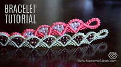 Macrame Wave and Triangle Bracelet TUTORIAL.