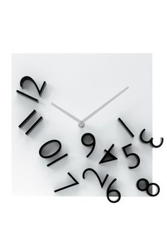 Karlsson - Products Wall clock Falling Numbers black white dial 30 x 30 x Excl. Wall Clock Black And White, Black White, Time Inc, Cool Clocks, Wall Clock Design, Clock Wall, Wall Art, Alzheimer's And Dementia, Watches