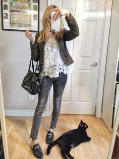 band jacket and lace #dresses#style#borntowear