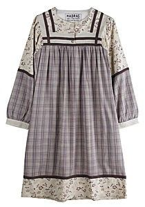 A.P.C. Madras Floral & Checked Dress. . . you know, with boots.