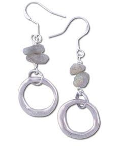 SoulFlower-Labradorite Circle Earrings-$22.00