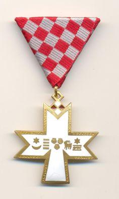 CROATIA    Order of the Croatian Trefoil  - Red hrvatskog trolista .  http://www.ebay.com/itm/CROATIA-Order-Croatian-Trefoil-Red-hrvatskog-trolista-/161388052533?pt=LH_DefaultDomain_0&hash=item25937a4035