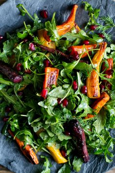 NYT Cooking: This composed, bright salad of roasted carrots, thinly sliced fennel and arugula gains a fruity depth from a splash of pomegranate molasses in the dressing. You can find pomegranate molasses in Middle Eastern groceries and specialty food shops, and it's worth seeking out for its complex, sweet-tart acidity. Once opened, it will last for years in your pantry. This salad makes...
