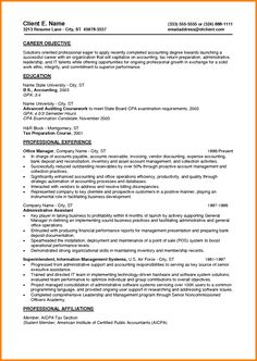 Summary Career Objective Qualifications Resume Example Samples Entry Level